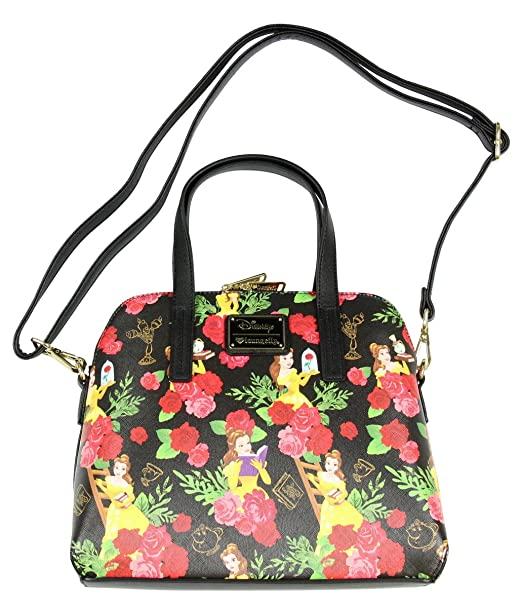 f1b9efa24f00 Loungefly Belle Beauty and the Beast Belle Floral Handbag Bag ...