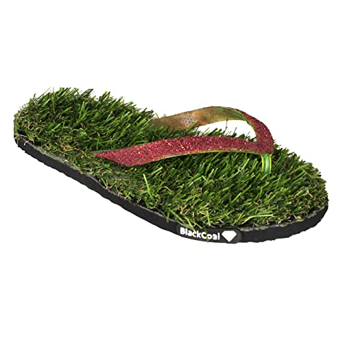 8686f9ce043f BlackCoal Womens Grass House Slipper Girls Casual Home Grass Flip Flops  WFH38  Buy Online at Low Prices in India - Amazon.in