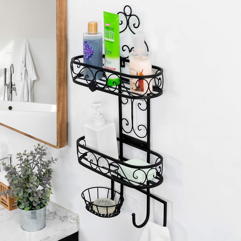3 Layer Bathroom Wall Mounted Storage Cabinet Shelf Toiletry Holder Rack Tidy