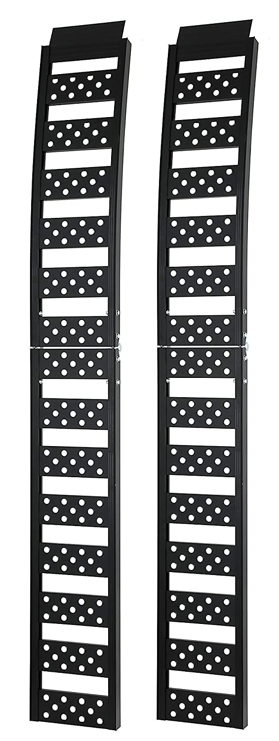 Reese Explore 9516300 92' Ice Black Centerfold Arched Loading Ramp, Pair, 2 Pack