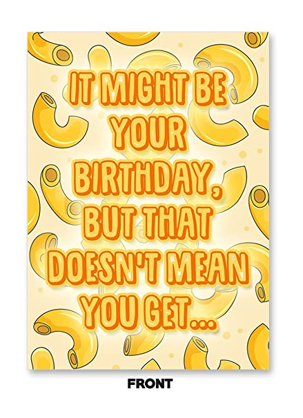 Amazon Somebody Toucha My Spaghet Meme Happy Birthday Card