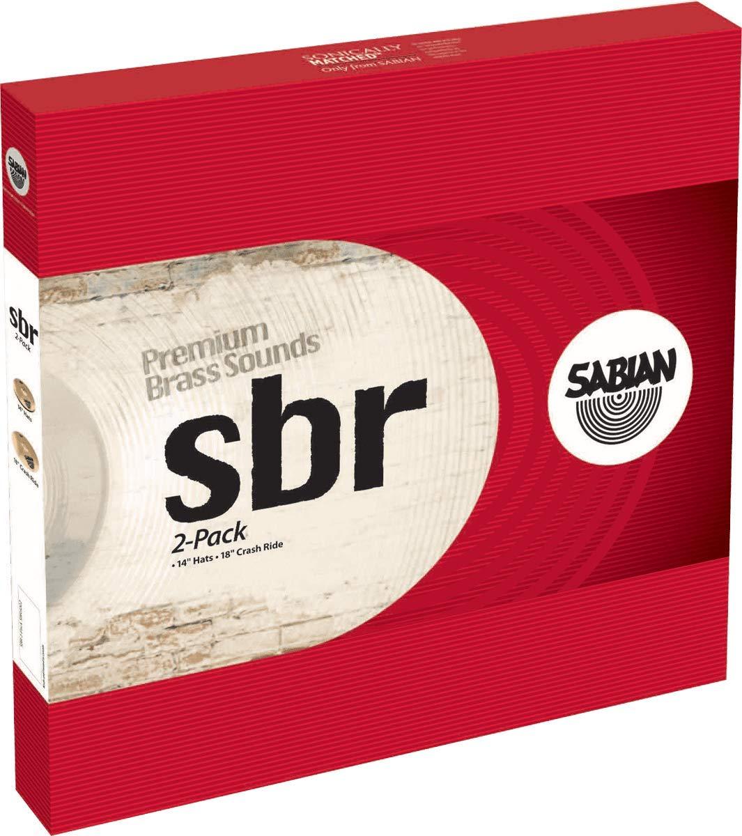 Sabian Cymbals SBR5002 SBR 2-Pack 14'' Hi hats, 18'' Crash/Ride by Sabian