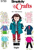Simplicity Sewing Pattern 5733 One Size Doll Clothes