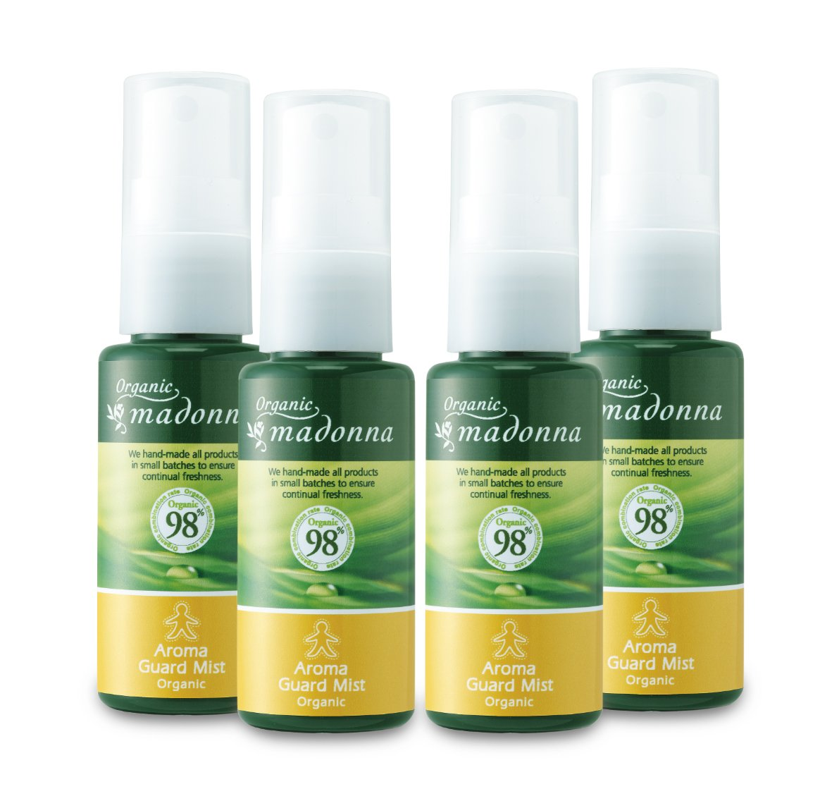 Organic Madonna aroma guard mist 35ml mini type ~ 4 pcs set (by 100% insect natural ingredients only aroma mist)