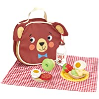 Tender Leaf Toys - Little Bear's Picnic - Pretend Food Play Wooden Picnic Set with Food, Tablecloth and Lunch Bag…