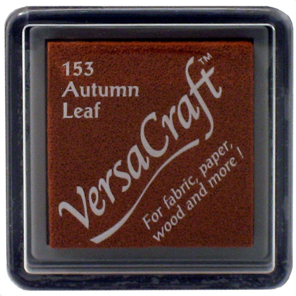 Tsukineko Small Size VersaCraft Fabric and Home Decor Crafting Pigment Inkpad, Autumn Leaf