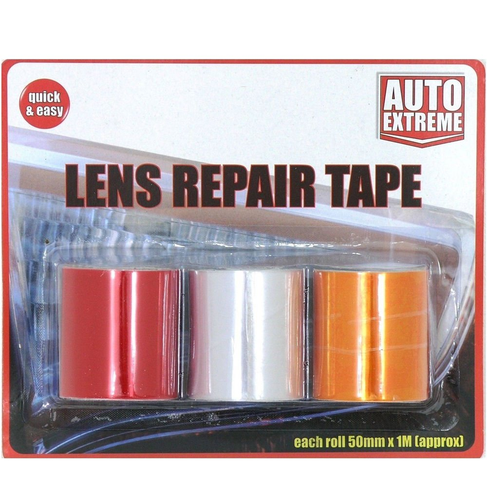 DPNY 3 Roles Car Lens Repair Tape Light Indicators Rear Front Red Orange Clear