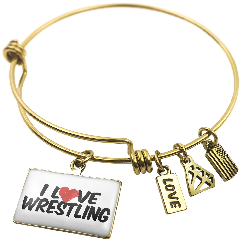 Expandable Wire Bangle Bracelet Wrestling - NEONBLOND