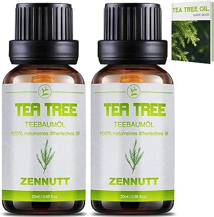 2 PACK Aceite Esencial de Árbol de té Orgánico Tea Tree Essential ...
