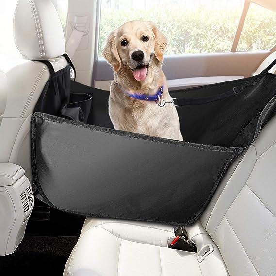 Focuspet Hunde Autositz Einzelnsitz Für Rückbank Ideale Hund Autositzbezug Für Haustier Hundedecke Auto Wasserdicht Abriebfest 53 X 60 X 35cm Haustier
