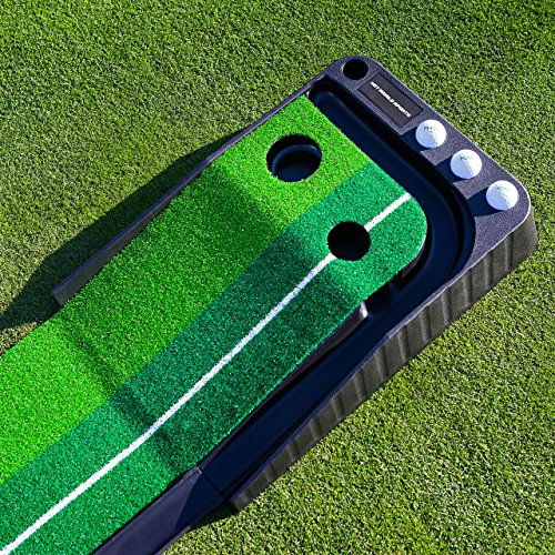 FORB Dual-Speed Golf Putting Mat (10ft x 1ft) - Perfect Your Putting On The Go With This Easy To Manoeuvre Mat [Net World Sport] by FORB (Image #3)