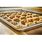 COOKIE SHEET BAKING PAN - For Best Pastries And Brownies - Our Jelly Roll Pans Will NEVER RUST OR WARP Like Other Sheets - Professional, Sturdy Quality Proves This Metal Half Tray Is Built To Last!