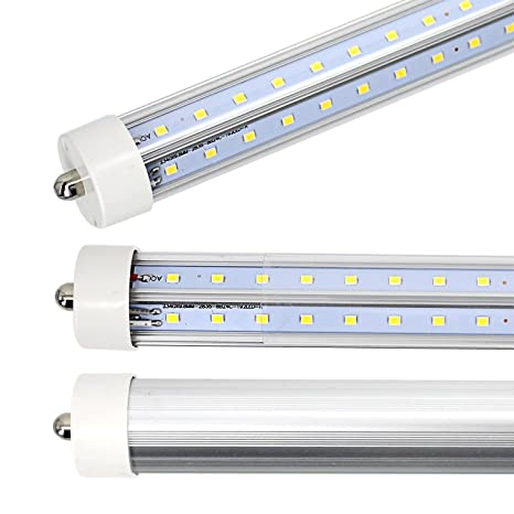 8ft Led Tube Light, 8 Foot Single Pin FA8 V Shaped Led Bulbs, F96T12 ...