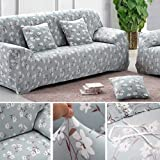 Sofa Covers 2 Seater Sofa Slipcover Stretch Elastic Pet Dog Couch Protector Easy Fit Flower
