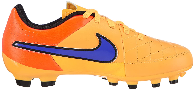 best loved 9cef1 0b1e5 Amazon.com   Nike Youth Tiempo Genio Leather Firm Ground (Laser Orange Total  Orange Volt Persian Violet) (1.5Y)   Soccer