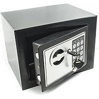 Bakaji – Pared Safe con numérico Digital 23 x 17 x 17 cm electrónico de Seguridad Home Hotel Hotel Seguro + 4 x Pilas AA…