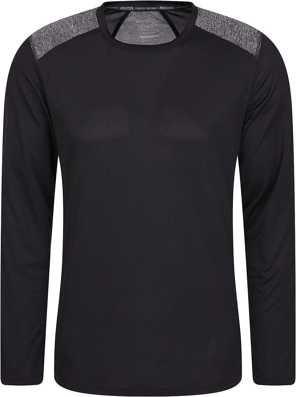 Protezione dai Raggi UV da Uomo Ideale per Lo Sport e Le attivit/à allaperto Mountain Warehouse Maglietta Aspect a Maniche Lunghe Leggera e Traspirante
