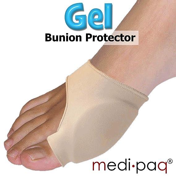 Medipaq Gel Big Toe Protector de juanetes - Obtener alivio del dolor de juanetes, ampollas, gota o artritis para un paseo más cómodo (1 x hombres UK 7-12): ...