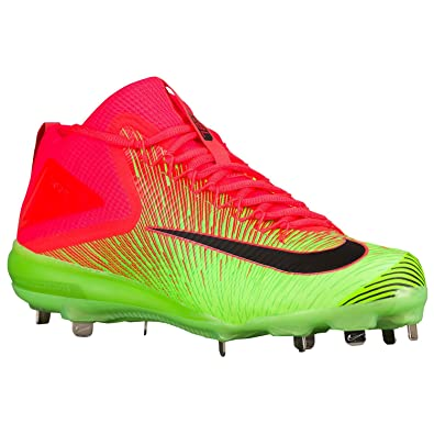 726c1242e Nike Zoom Trout 3 Luminescent Metal Baseball Spikes Shoes Bright  Crimson Electric Green Black