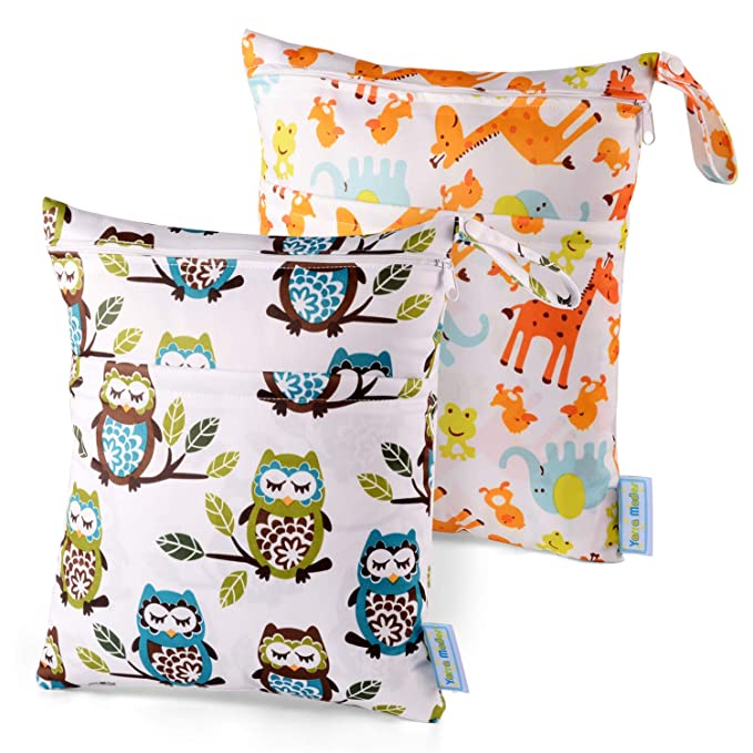 New Infant Waterproof Zip Wet Dry Bag Baby Cloth Diaper Nappy Pouch Reusable