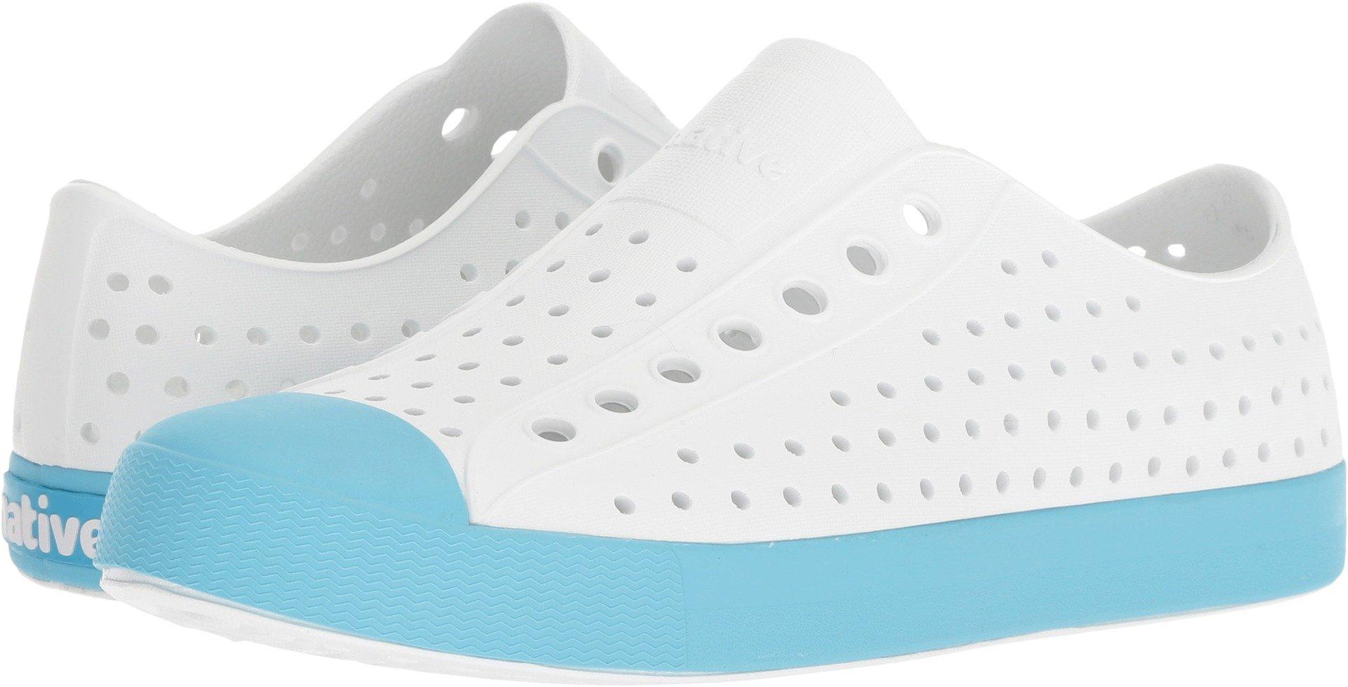 Native Shoes Jefferson Water Shoe, Shell White/Surfer Blue, 3 Men's (5 B US Women's) M US