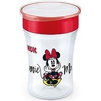 NUK Disney Magic Cup vaso antiderrame bebe, borde antiderrame de 360 °, 8+ meses, sin-BPA, 230 ml, Minnie Mouse, 1…