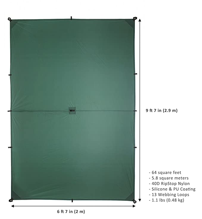 Aqua Quest WEST COAST Vivac Combo - 100% Impermeable Equipo de Acampar con Lona 3 x 4 m y Tienda de Campaña, Estacas, Correas de Compresión, Saco: ...
