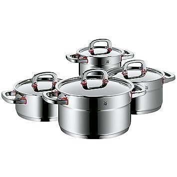 WMF Premium One - Batería de cocina 4 piezas Cool+ de acero inoxidable, apto para inducción. Fabricado en Alemania.: Amazon.es: Hogar