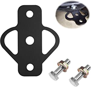 yanyuan Heavy Duty High Strength Steel 3-Way Hitch with Bolt, ATV Hitch Fit, Trailer Hitch, for Golf Carts, Garden Tractors, ATV Lawn Mowers, Chains, Tow Straps