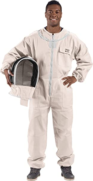Bees /& Co U74 Natural Cotton Beekeeper Suit with Fencing Veil