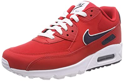 reputable site 9f5cb fb06a Nike Men's Air Max 90 Essential Low-Top Sneakers, (University Red/Blackened