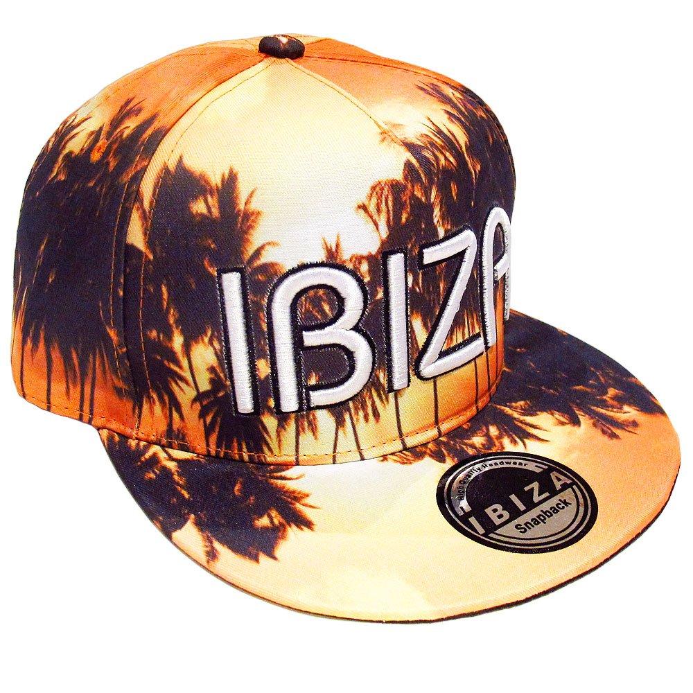 Ibiza Gorra Snapback Amanecer Naranja Palmeras - Naranja, Talla ...