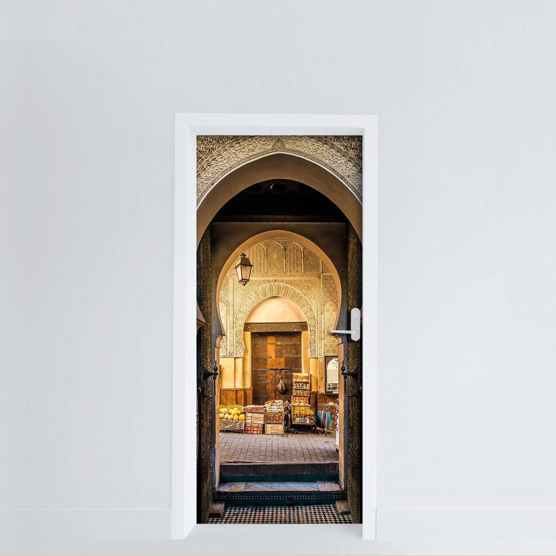 Adesiviamo Door Cover Oriental Market Door Mercato Orientale Vinyl Door Sticker Adesivo da Porta