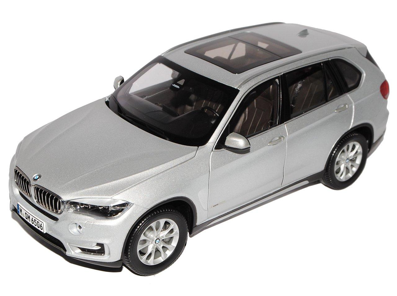 Jadi BMW X5 F15 SUV Glacier Silber Ab 2014 1/18 Modell Auto mit individiuellem Wunschkennzeichen