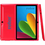 """60% OFF rotor® 7"""" Bluetooth HD Quad Core 1024X600 Tablet PC Actions 7031 Cortex A9 CPU Android 4.4.2 KitKat 512MB RAM 4GB FLASH Dual Camera BBC Iplayer Google Play Store WiFi Support Netflix 3D Games Flash Skype (Red)"""