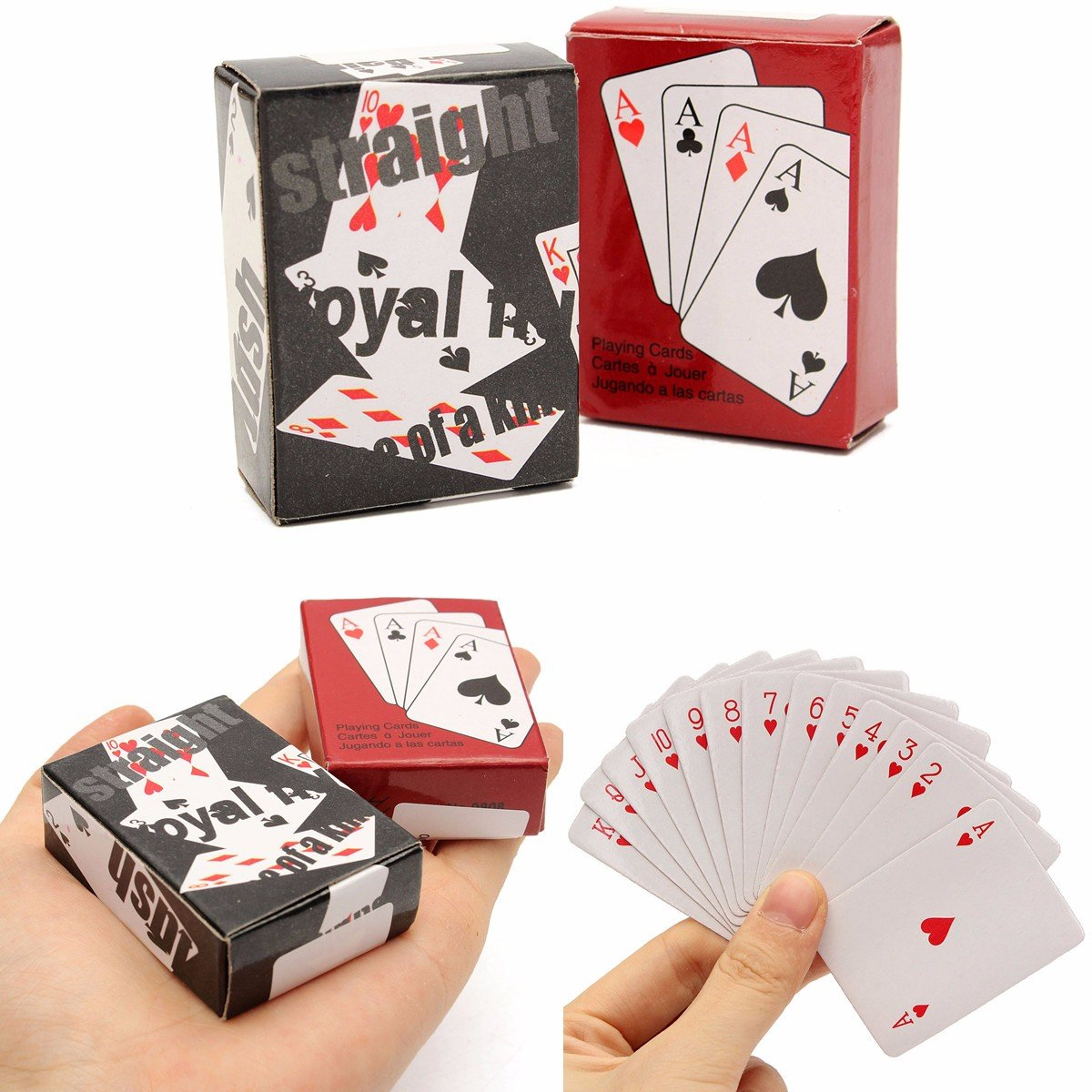 Amazon.com: Board Game Toys - Mini Playing Cards Deck ...
