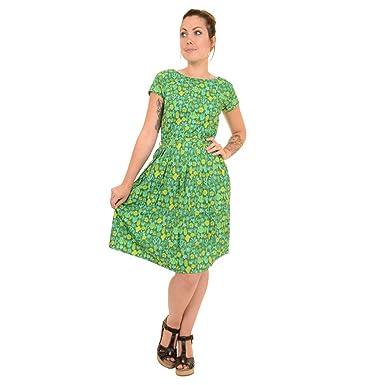 30b574489a6e Run & Fly Damen Kleid grün grün: Amazon.de: Bekleidung