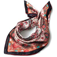 Women Silk Scarfs Pure Mulberry Real Silk Scarves Breathable Washable Small Square 21 inches INAINI