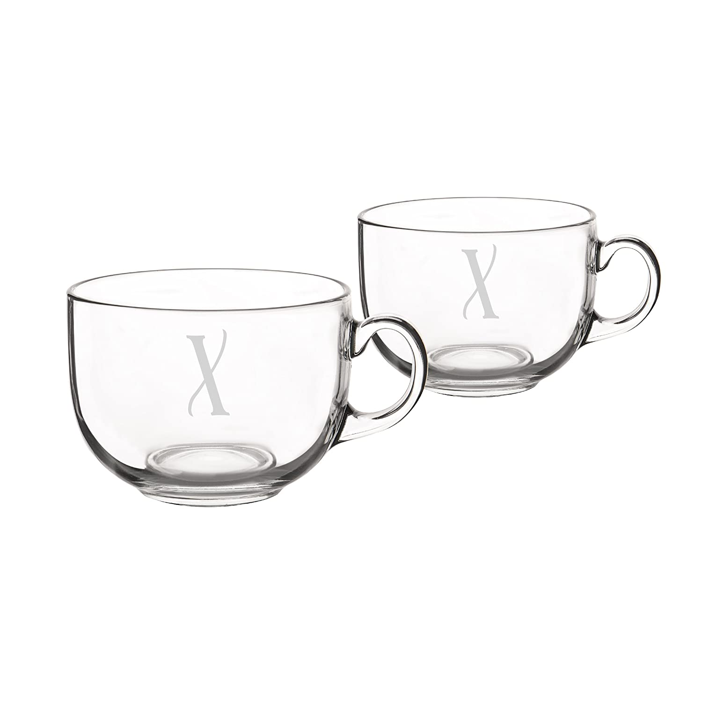 キャシーの概念Largeガラスコーヒーマグカップ( Set of 2 ) 22オンス クリア 4112-T B01IB2QN40 T