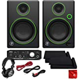 """Mackie CR3 3"""" Creative Reference Multimedia Monitors Bundle with Mackie Onyx Artist 1-2 USB Audio Interface and Tascam TH-02 Closed Back Studio Headphones"""