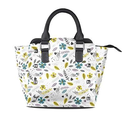 Amazon.com: Bolso bandolera de lona con estampado floral ...