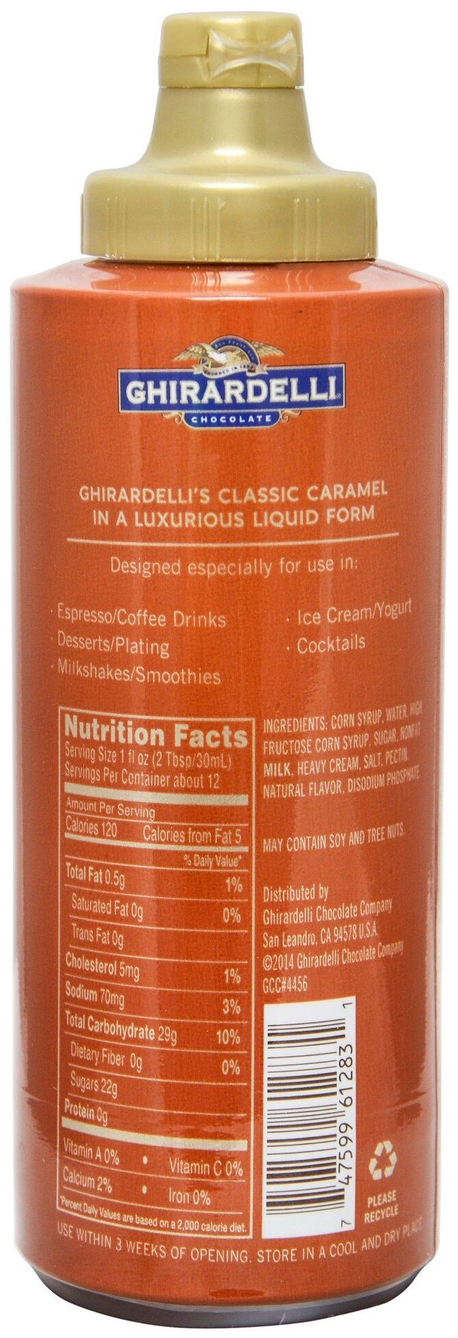 Ghirardelli - 16 Ounce Black Label, 16 Ounce Vanilla, 17 Ounce White, 17 Ounce Caramel, 17 Ounce Sea Salt Caramel Flavored Sauce (Set of 5) - with Limited Edition Measuring Spoon by Ghirardelli (Image #3)