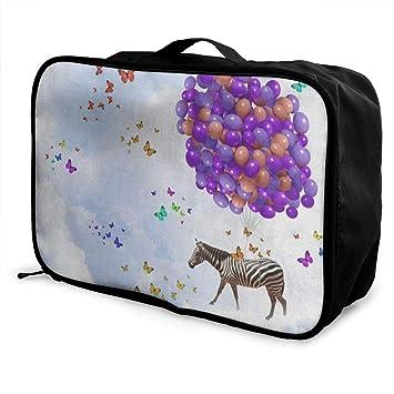 Amazon.com: Bolsas de viaje Fantasy cebra globo mariposa ...