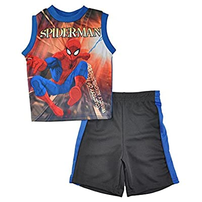Marvel Little Boys Tank Top 2pc Short Set