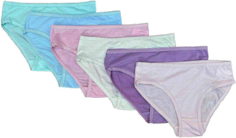 WKDS Cotton Rich Pack of 3 Girls Kids Soft Knickers Briefs Underwear