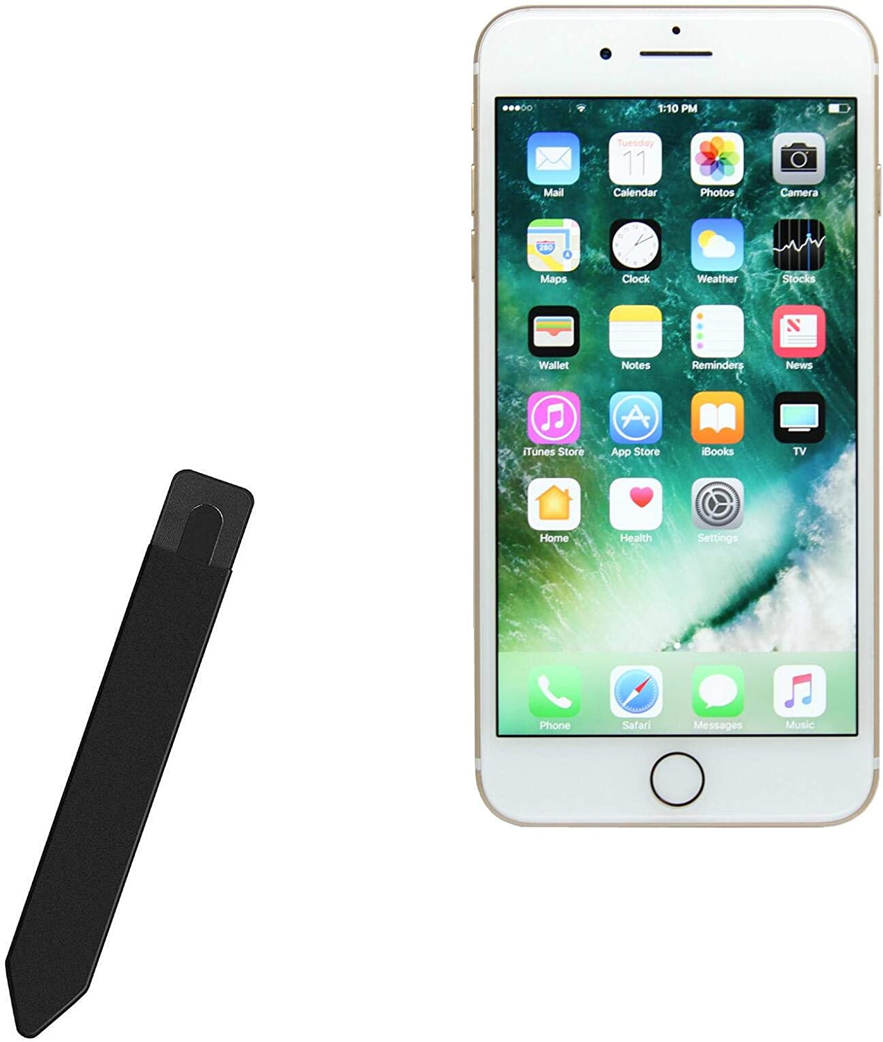 BoxWave Smart Gadget for Apple iPhone 7 Plus [Stylus PortaPouch] Stylus Holder Carrier Portable Self-Adhesive for Apple iPhone 7 Plus - Jet Black