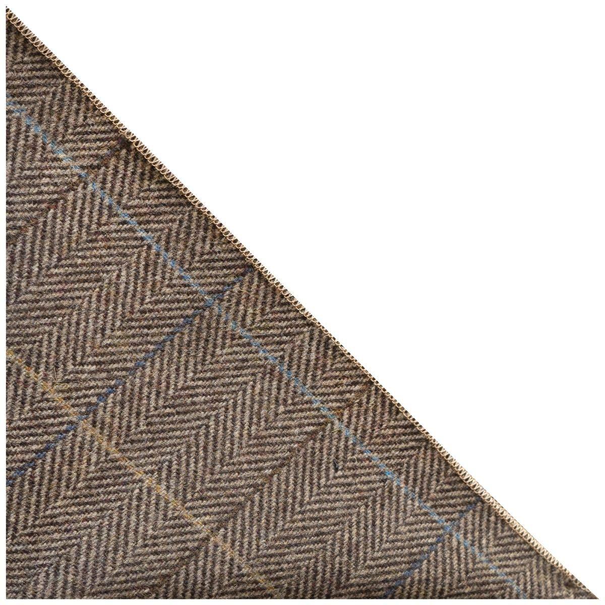 Handkerchief Tweed Luxury Dijon Herringbone Check Pocket Square