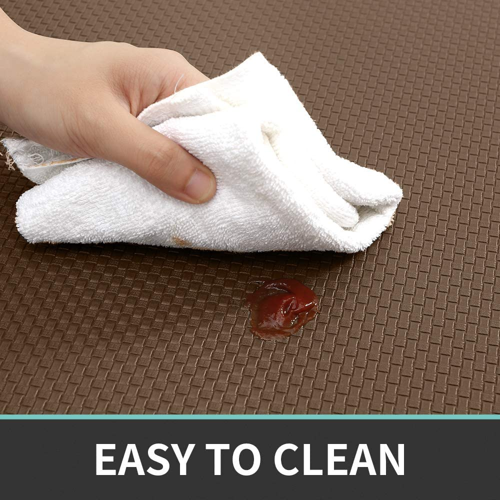 Red Easy to Clean 18x79 DEXI Kitchen Rug Anti Fatigue,Non Skid Cushioned Comfort Standing Kitchen Mat Waterproof and Oil Proof Floor Runner Mat