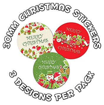 Christmas stickers for gifts
