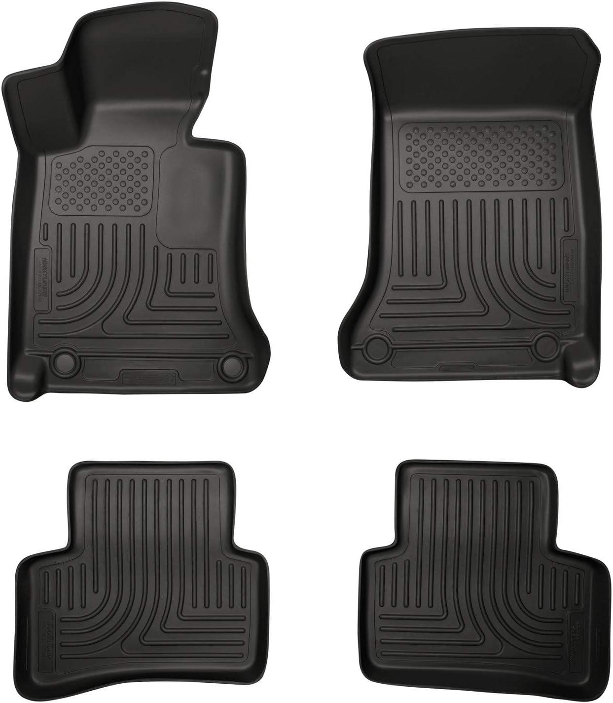 Husky Liners Front and 2nd Seat Floor Liners Fits 08-14 Mercedes C-Class 4 Door